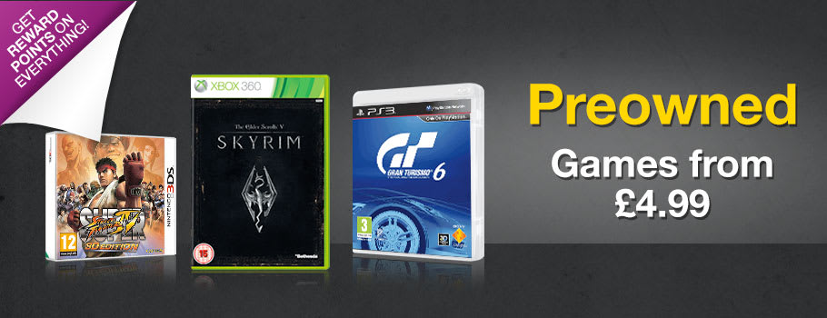 Preowned Games from £4.99 - Buy Now at GAME.co.uk!