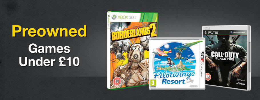 Preowned Games under £10