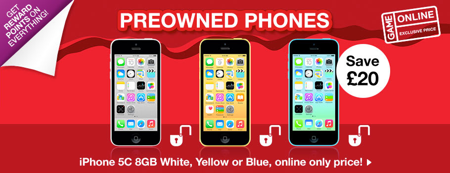 Preowned Phones - Buy Now at GAME.co.uk!
