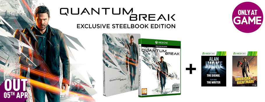 Quantum Break Special Edition Only at GAME - Preorder Now at GAME.co.uk!