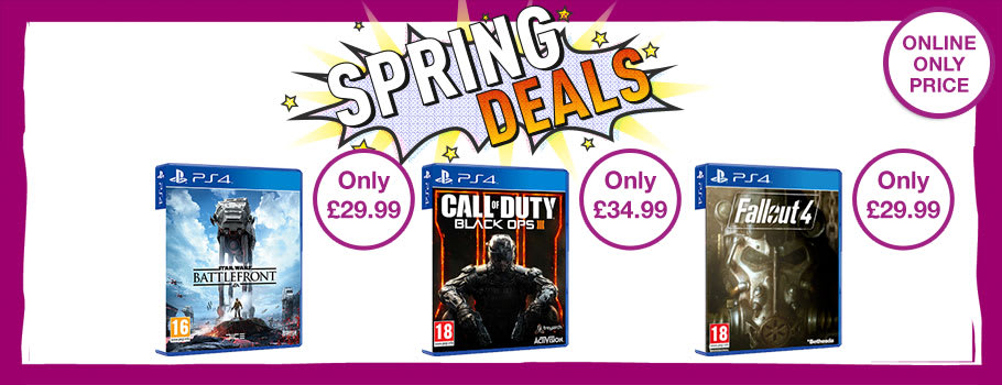 Spring Deals for PS4 Games - Buy Now at GAME.co.uk!