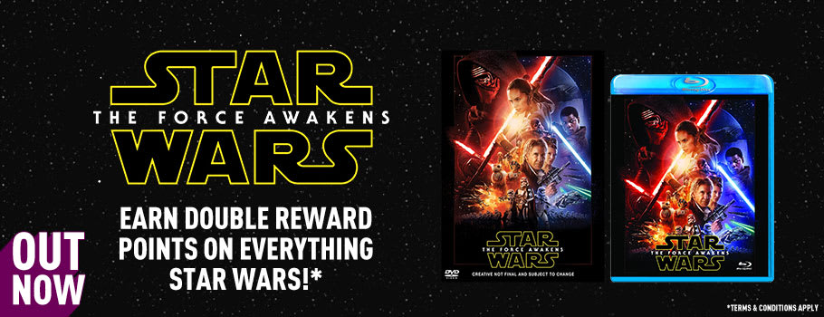Star Wars: The Force Awakens on Blu-Ray and DVD Earn Double Reward - T&C's Apply - Buy Now at GAME.co.uk!