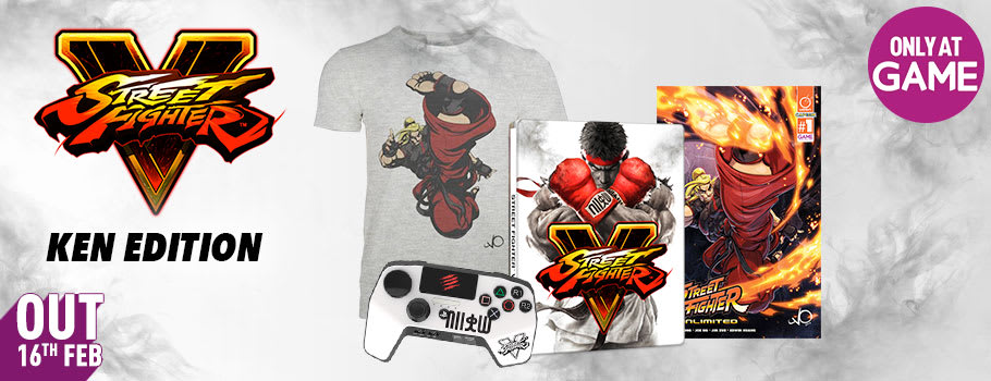 Street Fighter V Ken Edition  (Only at GAME) for PS4 - Pre-order Now at GAME.co.uk!