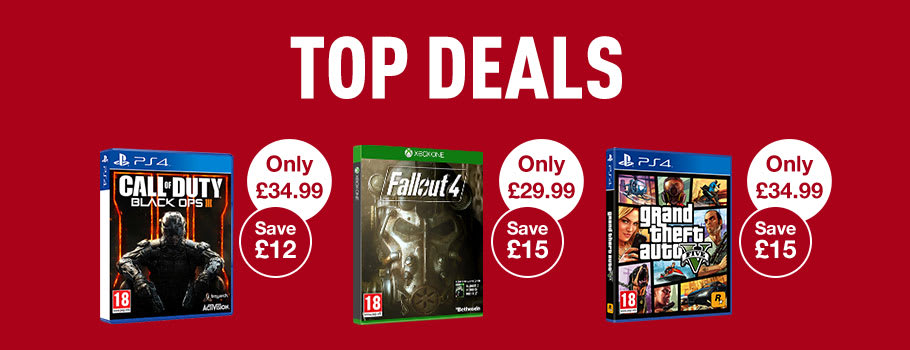 Top Deals on Xbox One, Ps4, Xbox 360, PS3 or Wii U games - Buy Now at GAME.co.uk!
