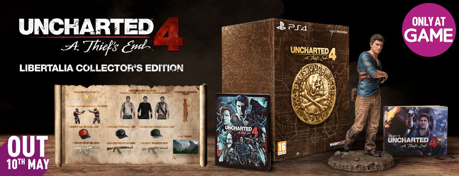 Uncharted 4 Libertalia Edition for PS4 Only at GAME- Pre-order Now at GAME.co.uk!