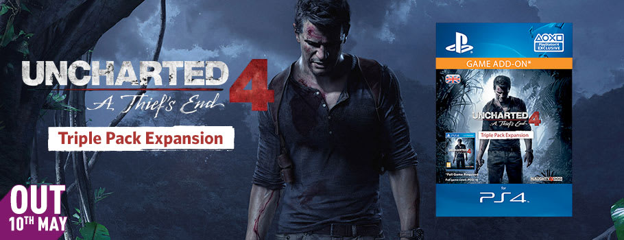 Uncharted 4 Triple Pack for PSN - Pre-purchase Now at GAME.co.uk!