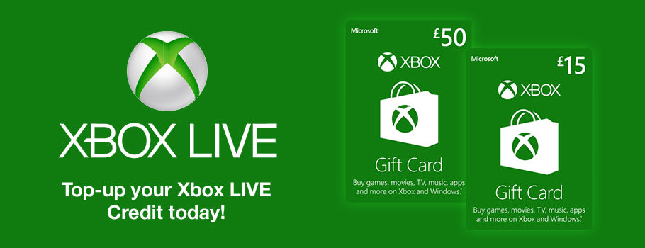 Xbox Live Wallet Top Up - Download Now at GAME.co.uk!