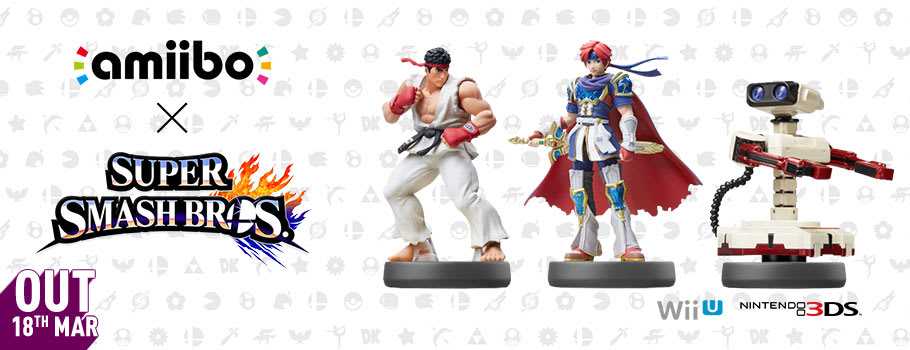 Ryu, Roy and Rob-Famicom amiibo, launching in March for Nintendo Wii U - Pre-order Now at GAME.co.uk!