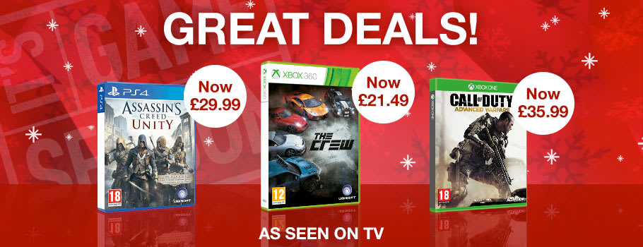 Up to 50% off games - as seen on TV