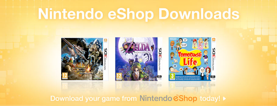Nintendo eShop for Nintendo 3DS - Download Now at GAME.co.uk!
