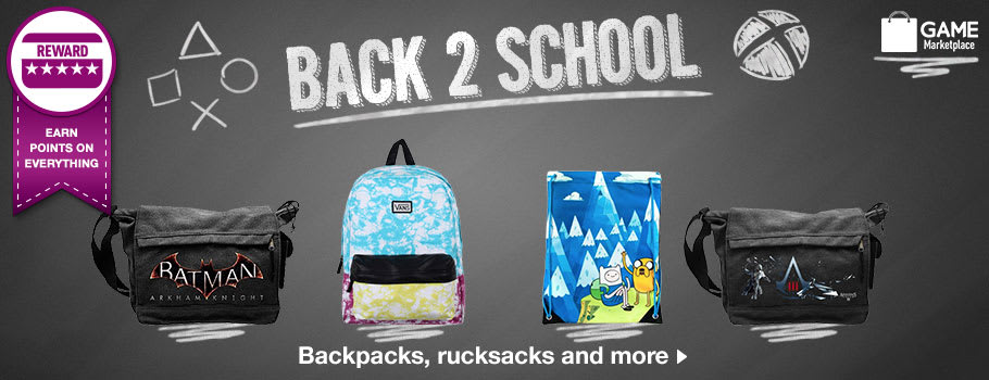 Back 2 School bags Buy Now at GAME.co.uk!