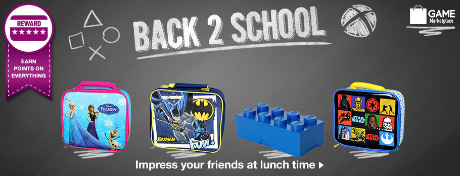 Back 2 School lunch boxes Buy Now at GAME.co.uk!