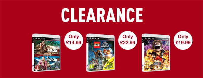 Clearance on PS3 games - Buy now at GAME.co.uk