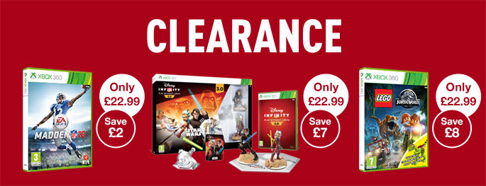 Clearance on Xbox 360 games - Buy now at GAME.co.uk