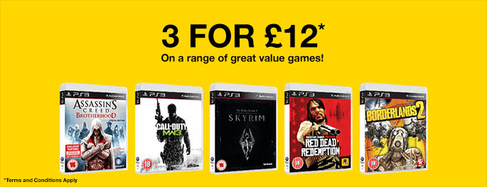 Pre-owned PS3 games 3 for £12 - Buy now at GAME.co.uk!
