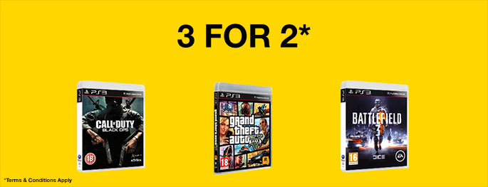 Pre-owned Games 3 for 2 for PS3 - Buy Now Only at GAME.co.uk!