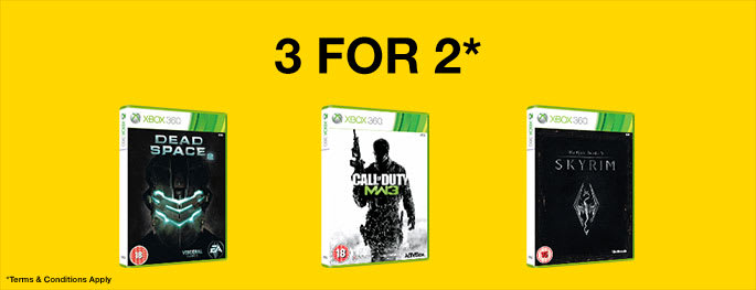 Preowned 3 for 2 for Xbox 360 games - Terms & Conditions Apply - Buy Now at GAME.co.uk!