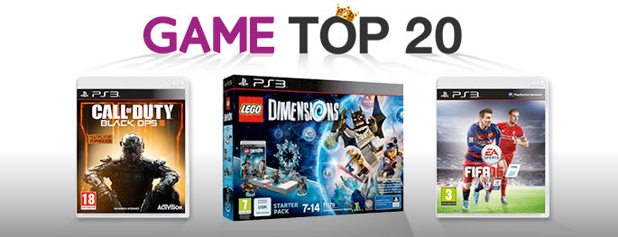 Top 20 Chart for PlayStation 3 - Buy Now at GAME.co.uk!