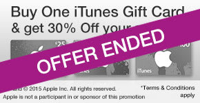 iTunes Buy One Get One 30% Off