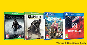 2 for £15 on Pre-owned Xbox One and PS4 Games - Buy Now at  GAME.co.uk!