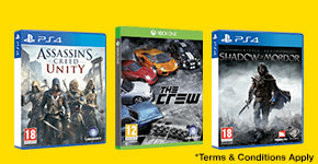Buy one get one half price on selected pre-owned games - Terms and Conditions apply - Buy Now at GAME.co.uk!