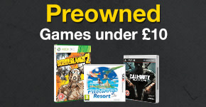 Preowned Xbox 360 and PS3 Games