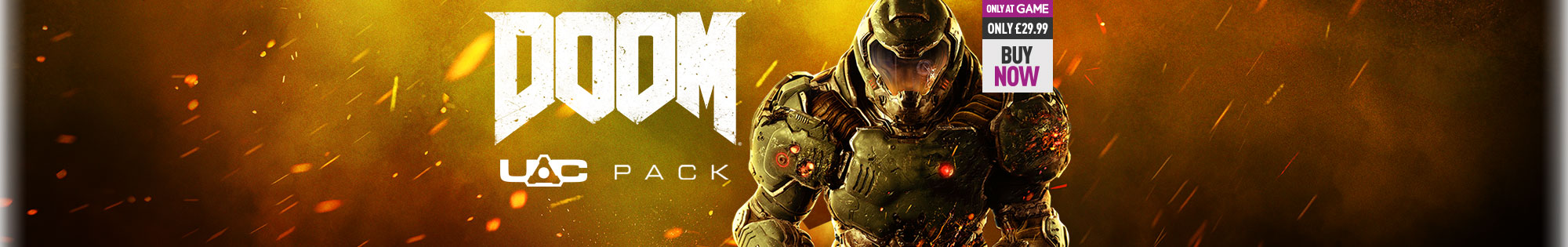 DOOM UAC Pack Offer Only at GAME on Xbox One, PS4 and PC - Buy Now at GAME.co.uk!