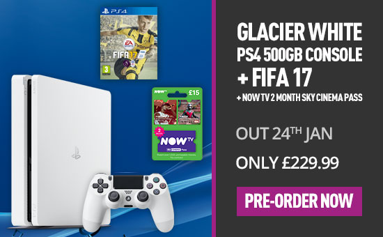 PlayStation 4 New Look Console Glacier White 500GB - Pre-order Now at GAME.co.uk