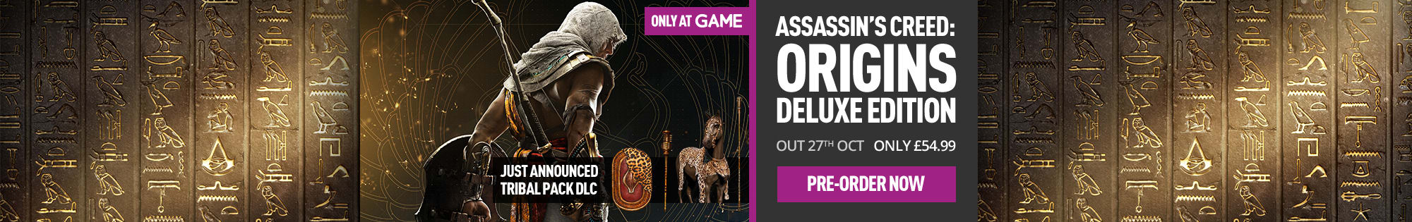 Assassins Creed Origins - Homepage banner