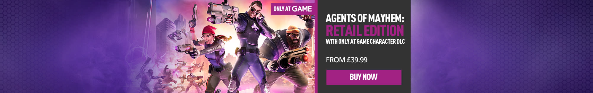 Pre-order Agents of Mayhem now! - Homepage Banner