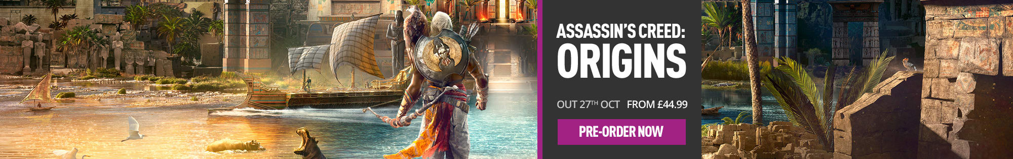 Preorder Assassin's Creed Origins at GAME.co.uk - Homepage Banner