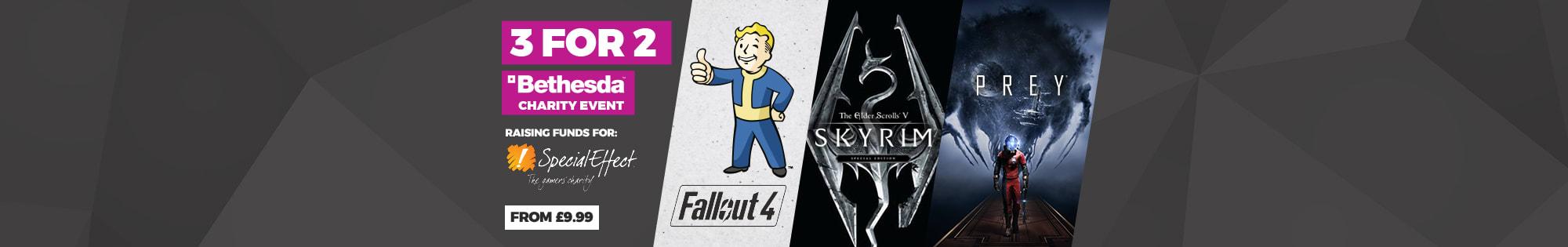 Bethesda 3 for 2 - Homepage Banner