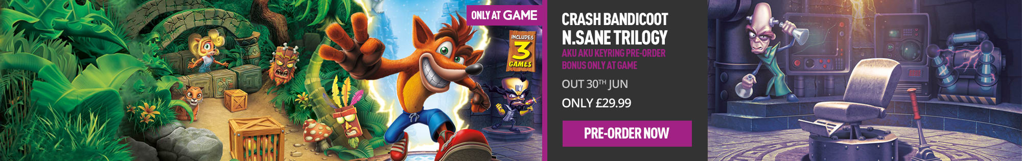 Crash Bandicoot - Homepage Banner