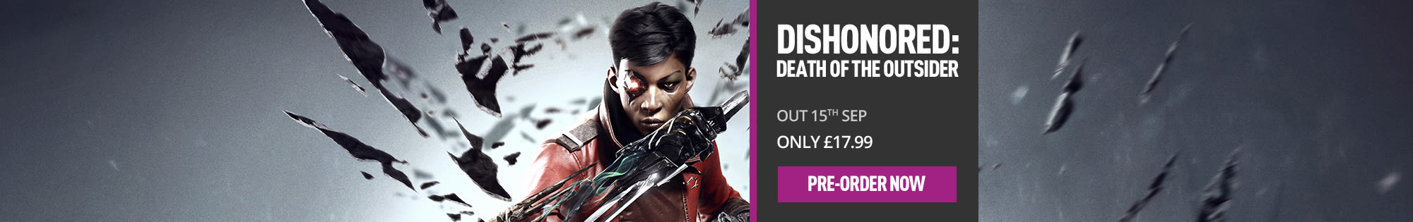 Dishonored: Death of the Outsider - Homepage banner