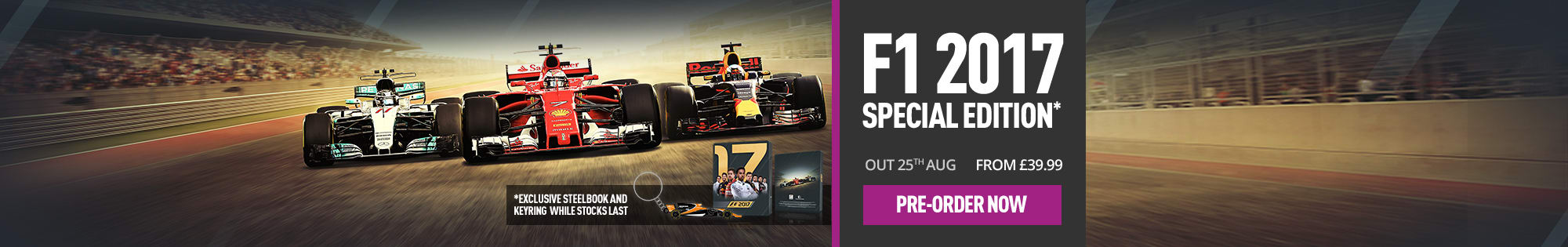 Pre-order F1 2017 - Homepage banner