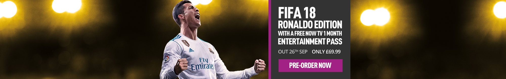 Pre-order Fifa 18 at GAME.co.uk - Homepage banner