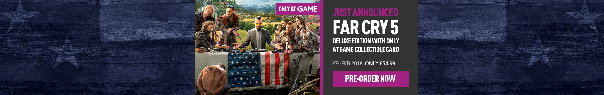 Far Cry 5 for PlayStation 4 and Xbox One - Homepage banner