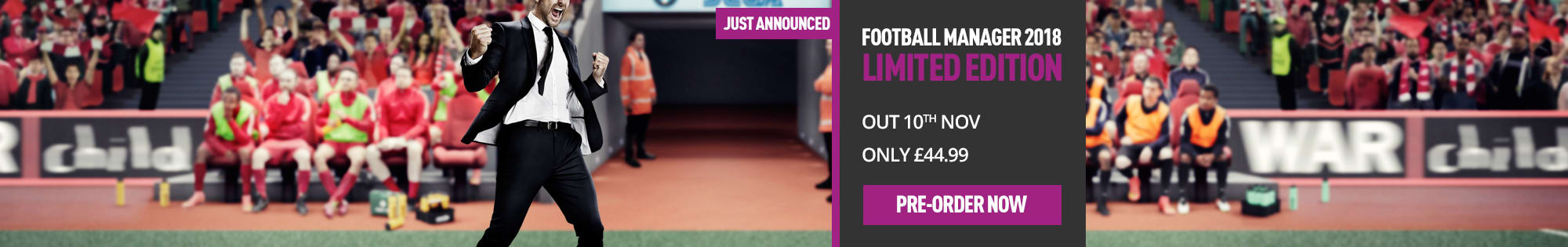 Just Announced! Football Manager 2018 - Homepage banner