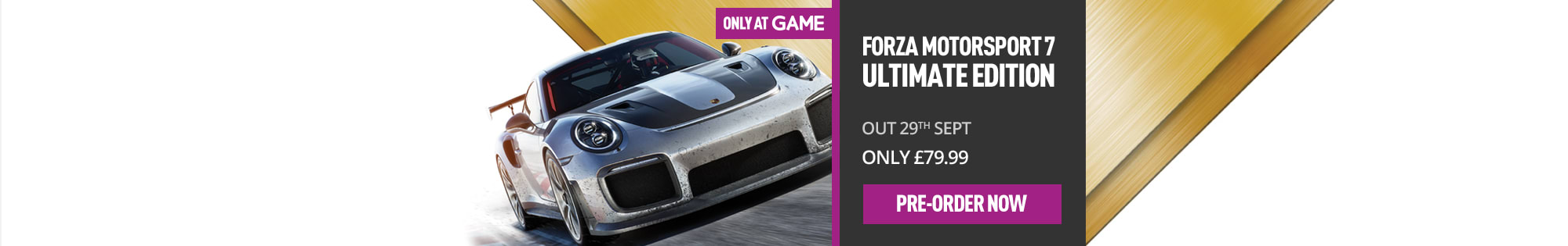 Forza 7 Motorsport for Xbox One - Homepage Banner