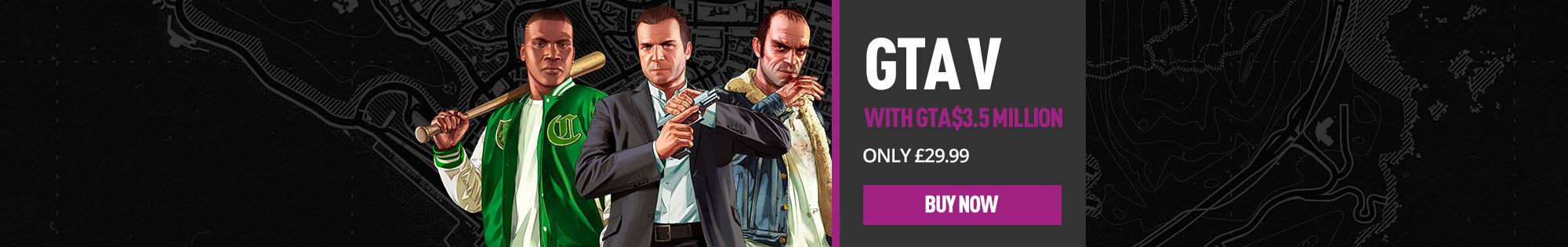 Grand Theft Auto V with $3.5 million Shark Card - Homepage banner