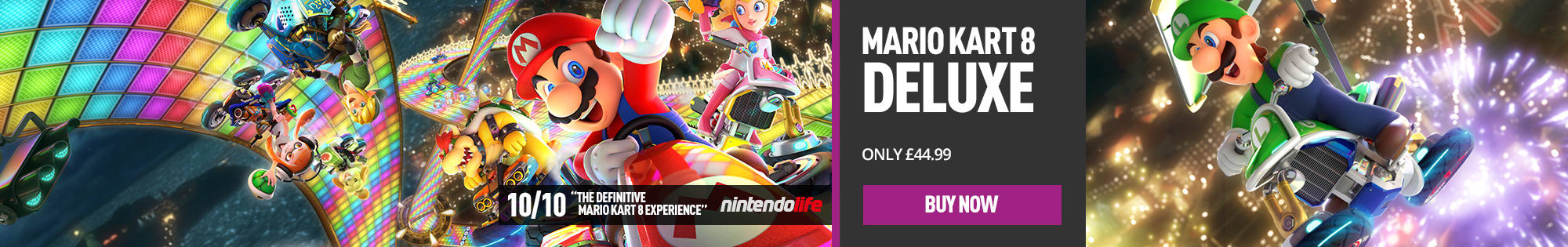 Mario Kart 8 Deluxe for Nintendo Switch - Homepage Banner