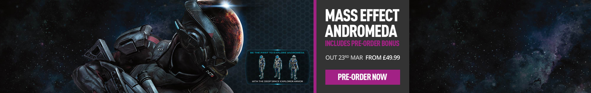 Mass Effect Andromeda for Xbox One, PS4 and PC - Pre-order Now at GAME.co.uk!