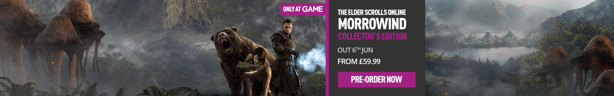 Elder Scrolls Online Morrowind for PlayStation 4 and Xbox One - Homepage Banner