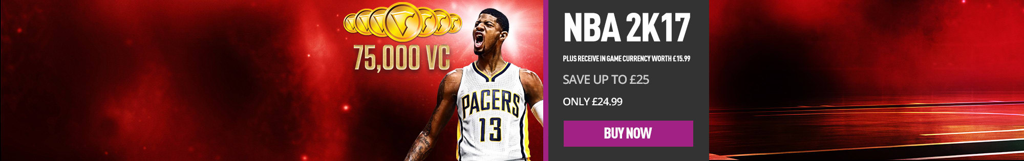 NBA 2K17 and in-game currency worth £15.99