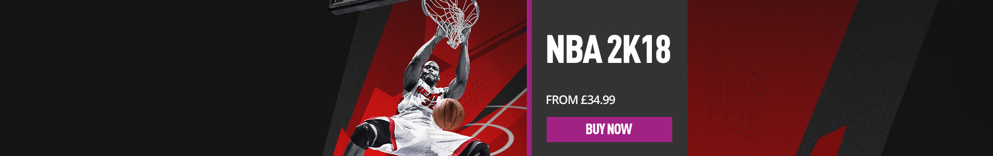 NBA 2K18 From £34.99 - Buy Now - Homepage Banner