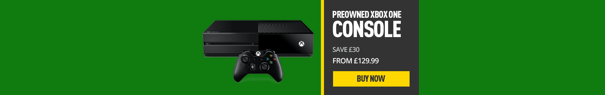 Pre-owned Xbox One Console - Homepage Banner