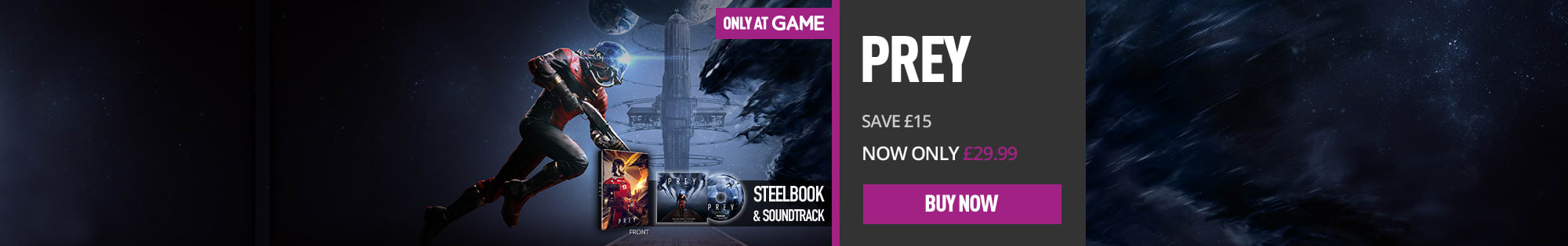 Prey Top Deal for PlayStation 4, Xbox One and PC - Homepage Banner