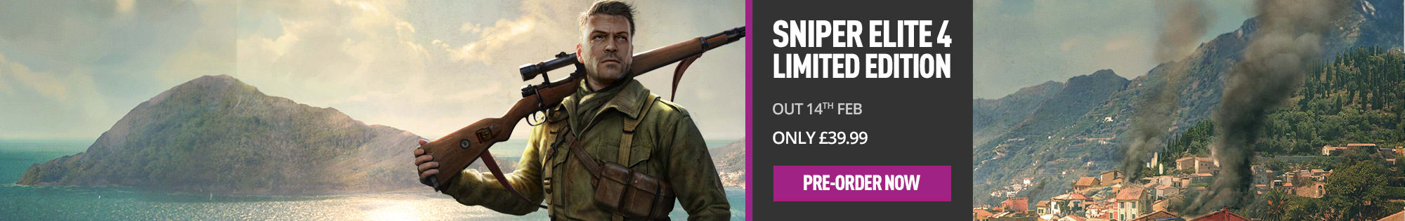 Sniper Elite 4 for Xbox One and PS4 - Pre-order Now at GAME.co.uk!