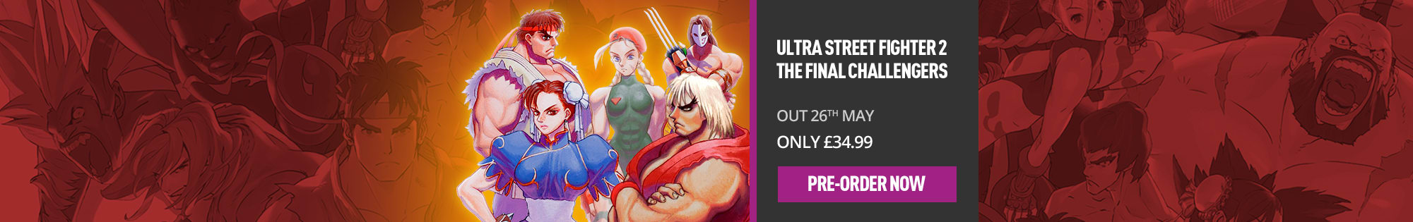 Ultra Street Fighter 2 The Final Challengers for Nintendo Switch - Homepage banner