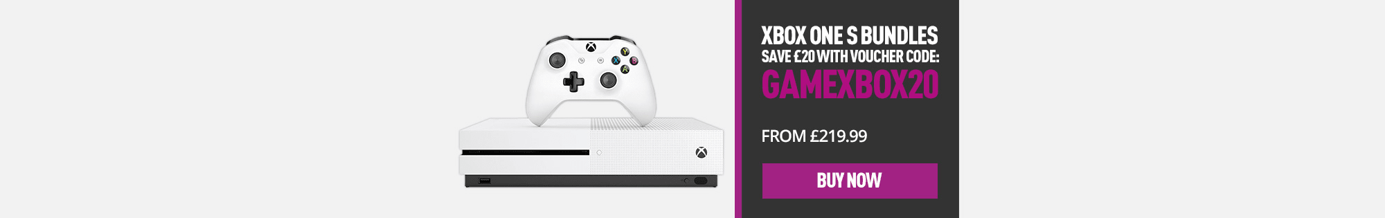 Xbox One S Console - Homepage Banner